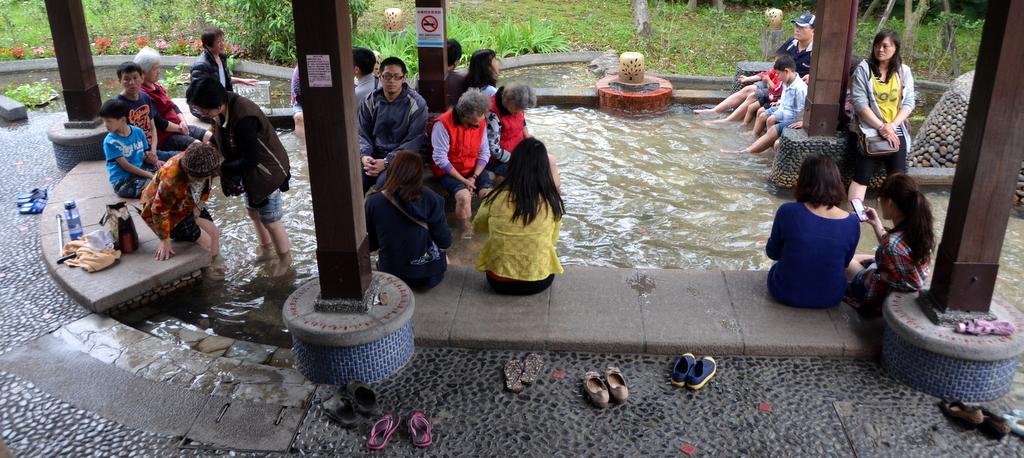 Public foot bath