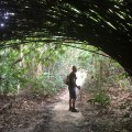 Rani and a bamboo bush