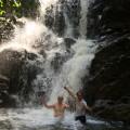 Fun at the waterfall