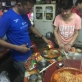 Preparing the Yee Sang