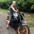 Had to try Rani's bike..:-)