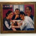 Bauernfamilie beim Essen, 1922-23