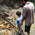 River crossing, learned young, done old
